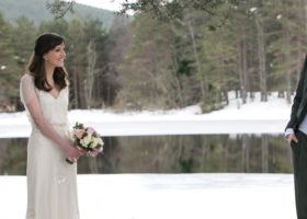 A winter wedding wonderland
